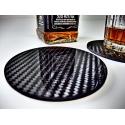 Whisky podkładka z włókna węglowego pod szklanke carbon