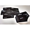 Wizytówki z carbonu (włókna węglowego) - 100 sztuk, nadruk dwustronny full color