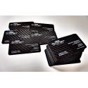 Wizytówki z carbonu (włókna węglowego) - 50 sztuk, nadruk dwustronny full color